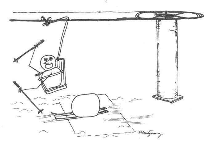 Ski Lift Snowman