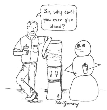 Snowman blood doner