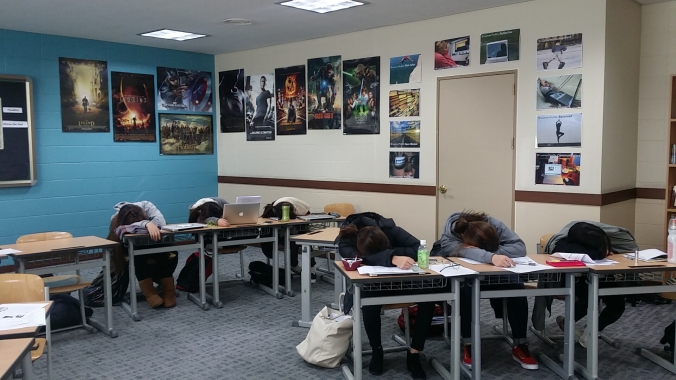 Students Sleeping
