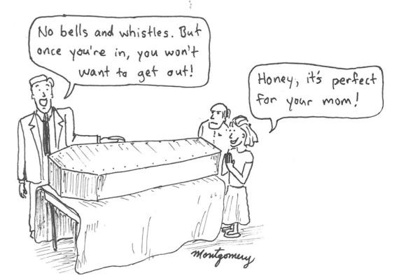 coffin salesman